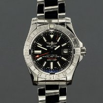 Breitling Avenger II GMT Steel 43mm Black No numerals