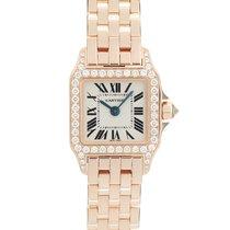 Cartier Rose gold Quartz White 24mm pre-owned Santos Demoiselle