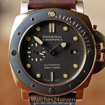 Panerai Automatic Brown 47mm pre-owned Luminor Submersible