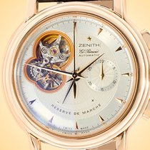Zenith Rose gold Automatic Silver 40mm pre-owned El Primero Chronomaster