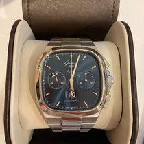 Glashütte Original Seventies Chronograph Panorama Date Steel 40mm Blue