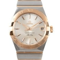 Omega Constellation Men Acero y oro 38mm Plata