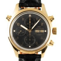 IWC Pilot Double Chronograph Yellow gold 42mm Black