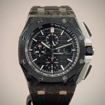 Audemars Piguet Royal Oak Offshore Chronograph folosit 44mm Negru Cronograf Data Cauciuc