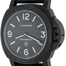 Panerai Luminor Base Logo Acero 44mm Negro Arábigos
