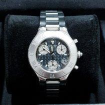 Cartier 21 Chronoscaph Acier 38mm Gris