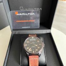 Hamilton Khaki Pilot Day Date occasion 42mm Noir Date Cuir