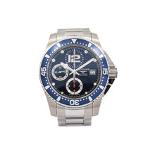 Longines HydroConquest pre-owned 41mm Blue Chronograph Date