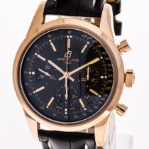 Breitling Transocean Chronograph Rose gold 43mm Black