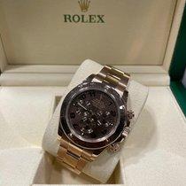 Rolex Or rose Remontage automatique Brun Sans chiffres 40mm occasion Daytona