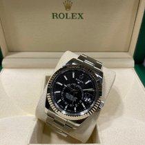 Rolex Sky-Dweller Staal 42mm Zwart Geen cijfers