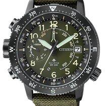 Citizen Promaster Land Steel 47mm Green Arabic numerals
