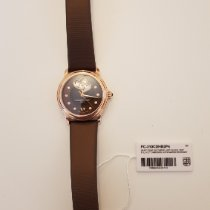 Frederique Constant Ladies Automatic Double Heart Beat Steel 34mm Mother of pearl