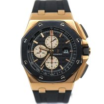 Audemars Piguet Red gold Automatic Black No numerals 44mm pre-owned Royal Oak Offshore Chronograph