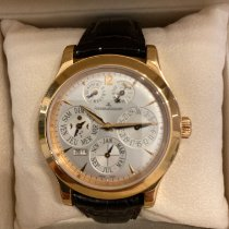 Jaeger-LeCoultre Master Eight Days Perpetual Rose gold 42mm Silver
