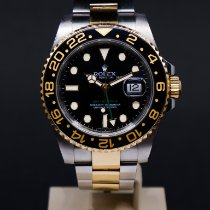 Rolex GMT-Master II Guld/Stål 40mm Sort Ingen tal Danmark, Aarhus C