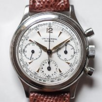 Universal Genève Compax Steel 35mm White Arabic numerals United States of America, California, Folsom