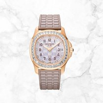 Patek Philippe Rose gold Automatic Mother of pearl Arabic numerals 35.6mm new Aquanaut