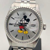 Rolex Datejust Ocel 36mm Stříbrná Bez čísel