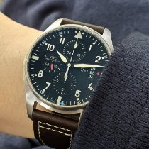 IWC Pilot Chronograph IW377701 Very good Steel 43mm Automatic Singapore