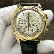 Zenith Yellow gold Automatic Silver 40mm pre-owned El Primero