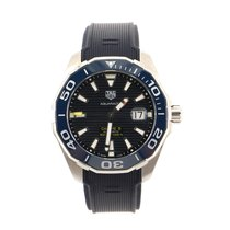 TAG Heuer Aquaracer pre-owned 44mm Blue Rubber