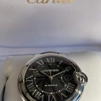 Cartier Ballon Bleu 42mm Сталь 42mm Черный Римские