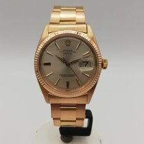 Rolex Red gold Automatic Silver No numerals 36mm pre-owned Datejust