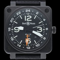 Bell & Ross BR 01-93 GMT occasion 46mm Noir Date GMT Textile