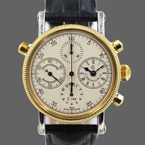 Chronoswiss Chronograph Rattrapante Gold/Steel 39mm Champagne Arabic numerals