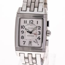 Jaeger-LeCoultre Reverso (submodel) pre-owned 28mm White Chronograph Date Steel
