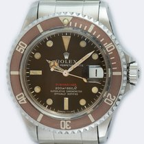 Rolex Submariner Date Acero 40mm Marrón Sin cifras