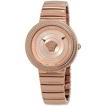 Versace Steel Quartz Gold Roman numerals 40mm new