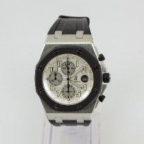 Audemars Piguet Royal Oak Offshore Chronograph Acciaio 42mm Bianco Arabi Italia, Bologna