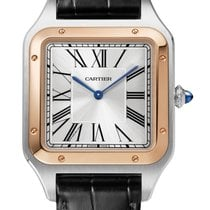 Cartier W2SA0017 Gold/Steel 2021 Santos (submodel) 46.6mm new United States of America, Florida, Sunny Isles Beach