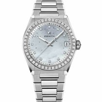 Zenith Steel Automatic Mother of pearl 36mm new Defy