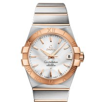 Omega Constellation Men Gold/Steel 38mm Silver Roman numerals United States of America, Florida, Sunny Isles Beach