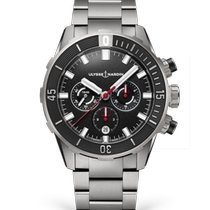 Ulysse Nardin Steel Automatic Black 44mm new Diver Chronograph