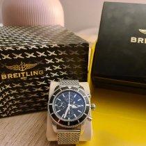 Breitling Superocean Heritage Chronograph occasion Noir Chronographe Date Plis