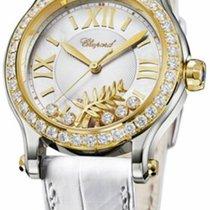 Chopard nové Automatika Centrální sekundová ručka Osazení drahokamy a diamanty 36mm Zlato/Ocel Safírové sklo