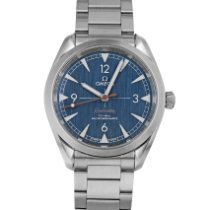 Omega Seamaster Railmaster Steel 40mm Blue Arabic numerals