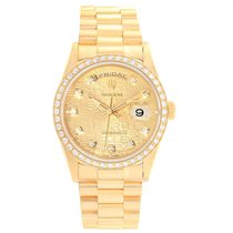 Rolex Day-Date Yellow gold 36mm Gold No numerals United States of America, California, Los Angeles