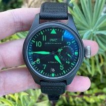 IWC Ceramic Black pre-owned Big Pilot Top Gun