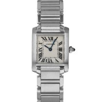 Cartier Tank Française Steel 20mm Silver Roman numerals United States of America, Maryland, Baltimore, MD