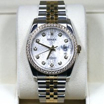 Rolex Datejust Gold/Steel 36mm Silver No numerals United States of America, California, Newport Beach CA