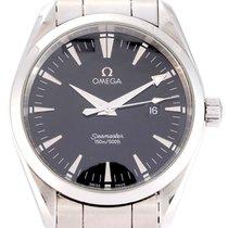 Omega Acier Quartz Noir 39mm occasion Seamaster Aqua Terra