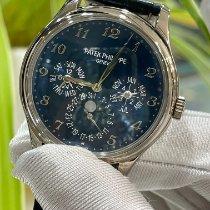 百達翡麗 Perpetual Calendar 白金 39mm 藍色 阿拉伯數字 香港