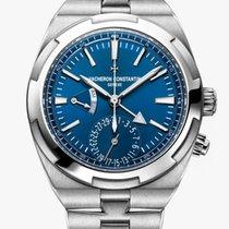 Vacheron Constantin Overseas Dual Time Acero 41mm Azul Sin cifras
