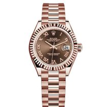 Rolex Automatic Brown 28mm pre-owned Lady-Datejust