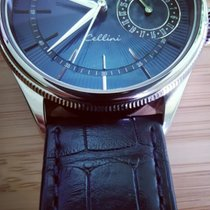 Rolex Cellini Date Oro blanco 39mm Azul Sin cifras